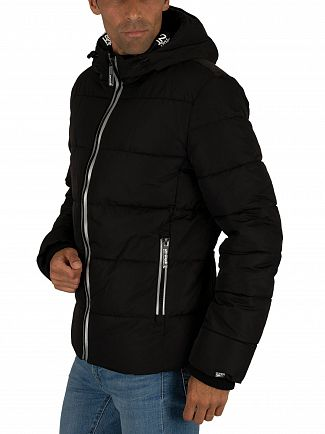 Superdry Black New House Sports Puffer Jacket