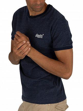 Superdry Atlantic Navy Grit Orange Label Cali Stack T-Shirt