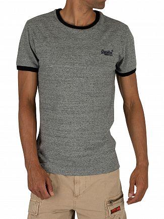 Superdry Flint Grey Grit Orange Label Cali Stack T-Shirt