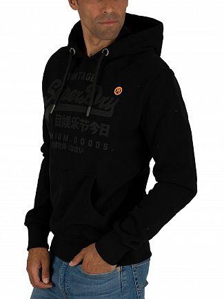 Superdry Black Premium Goods Tonal Pullover Hoodie