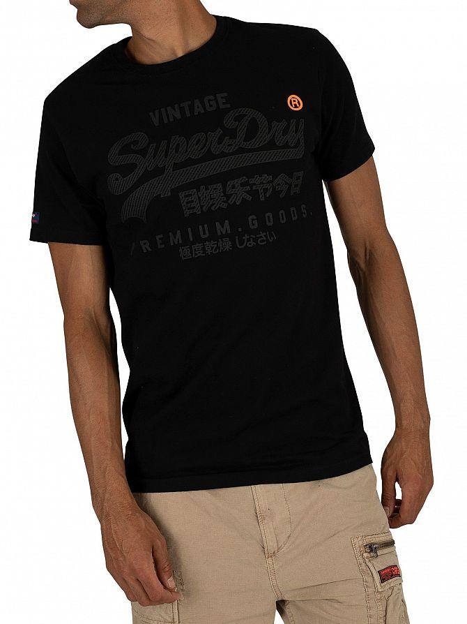 Superdry Black Premium Goods Tonal T-Shirt