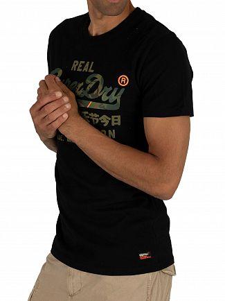 Superdry Black Vintage Logo Fero T-Shirt