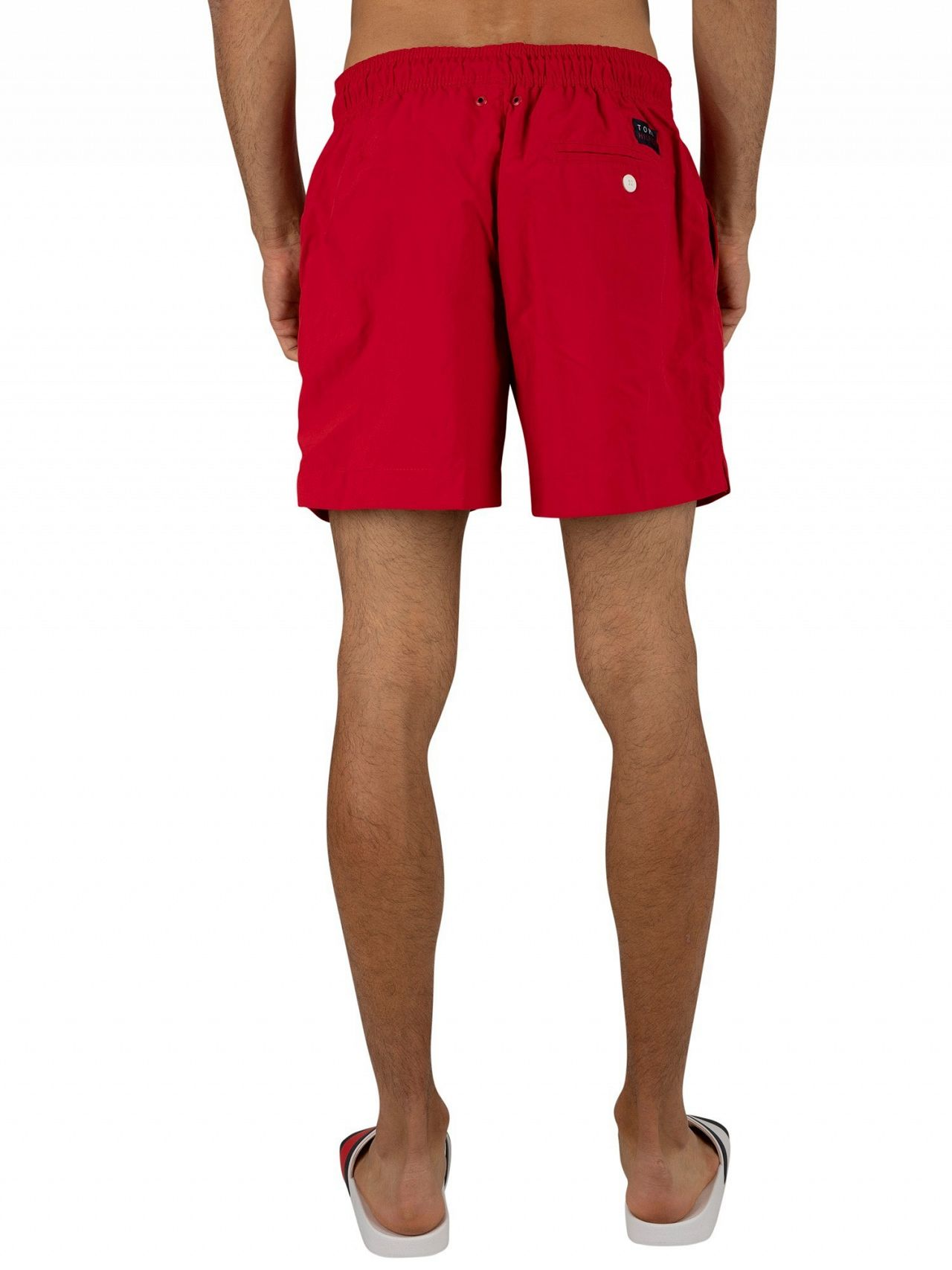 d9f8cf0b59 Tommy Hilfiger Tango Red Medium Drawstring Swim Shorts | Standout