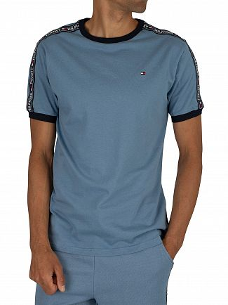 Tommy Hilfiger Coronet Blue Sleeves Logo T-Shirt