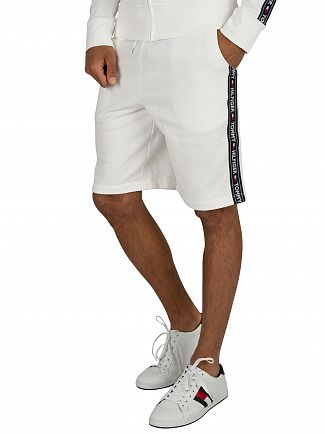 Tommy Hilfiger White Track Sweat Shorts