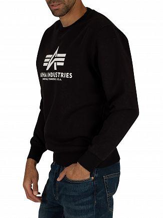 Alpha Industries Black Basic Sweatshirt