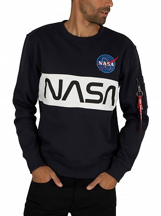 Alpha Industries Rep Blue NASA Inlay Sweatshirt