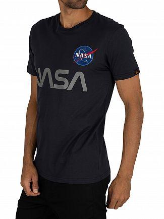 Alpha Industries Rep Blue NASA Reflective T-Shirt