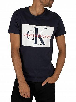 Calvin Klein Jeans Night Sky/Bright White Monogram Box T-Shirt