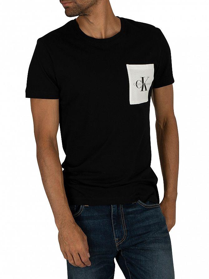 Calvin Klein Jeans Black/Bright White Monogram Pocket T-Shirt