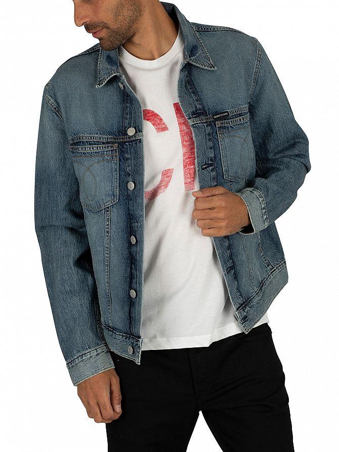 Calvin Klein Jeans Blue Wash Omega Slim Denim Jacket