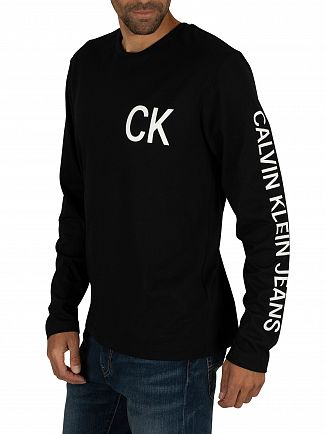 Calvin Klein Jeans Black On The Back Long Sleeve T-Shirt