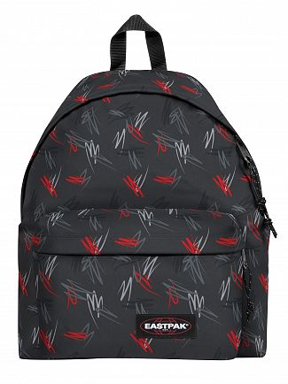 Eastpak Scribble Black Padded Pak'R Backpack