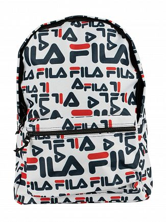 Fila White/Multi Riva Backpack