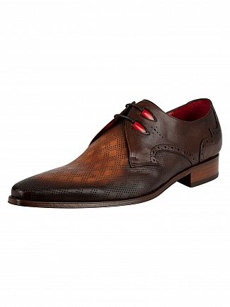 Jeffery West Mid Brown Vintage Leather Shoes