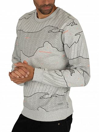 Scotch & Soda Grey Graphic Sweatshirt