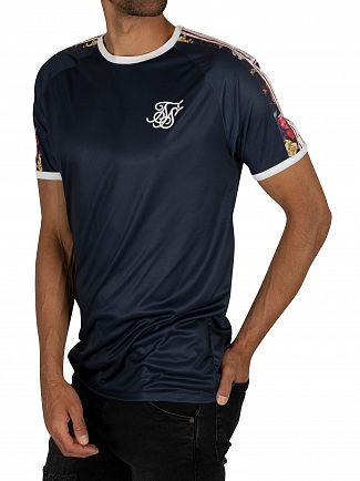 Sik Silk Navy Starlite Raglan Tape T-Shirt