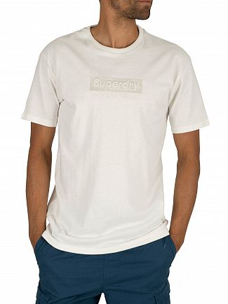 Superdry Off White International Youth Box Fit T-Shirt