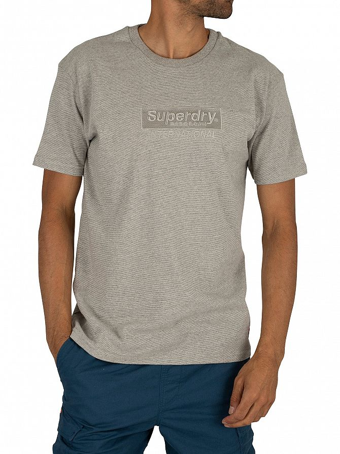 Superdry Silver Glass Feeder International Youth Box Fit T-Shirt