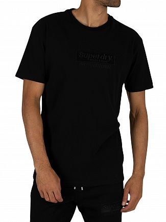 Superdry Black International Youth Box Fit T-Shirt