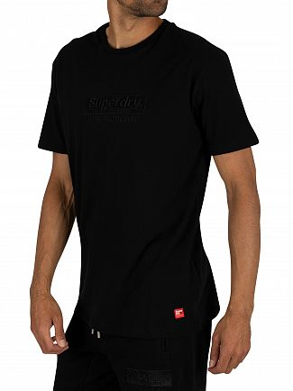 Superdry Black International Youth Box Fit T-Shirt