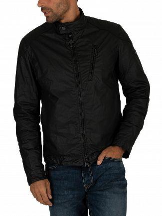 Barbour International Black Argyle Wax Jacket