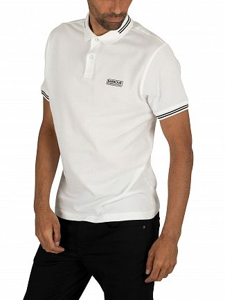Barbour International White Essential Tipped Polo Shirt