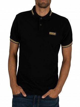 Barbour International Black Essential Tipped Polo Shirt