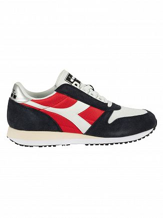 Diadora Blue Nights/Tomato Caiman Suede Trainers