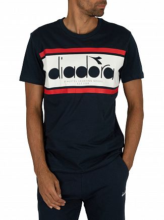 Diadora Blue Denim/Optical White/Tomato Spectra Graphic T-Shirt