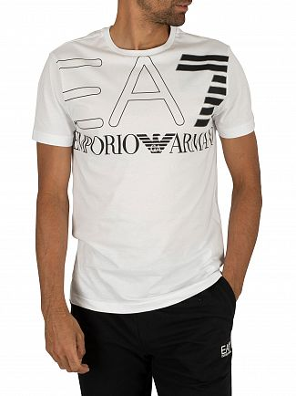 EA7 White Jersey Graphic T-Shirt