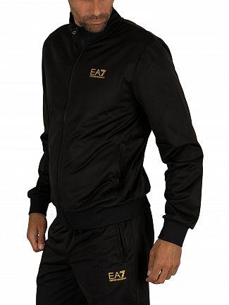 EA7 Black Jersey Tracksuit