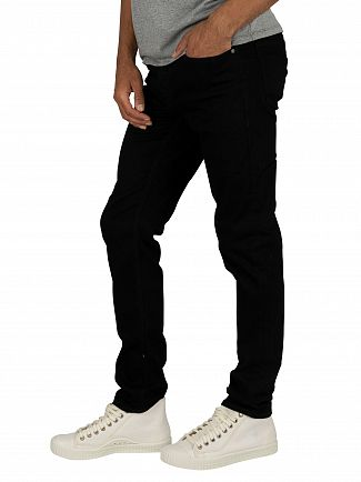 Jack & Jones Black Glenn Original 816 Slim Jeans