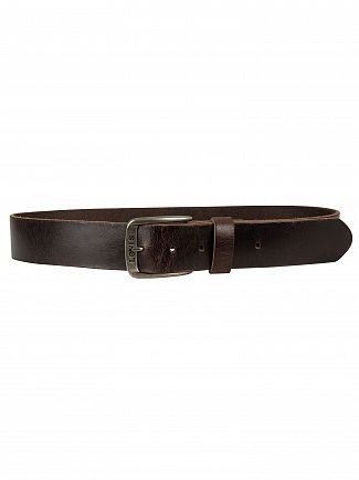 Levi's Dark Brown Alturas Leather Belt