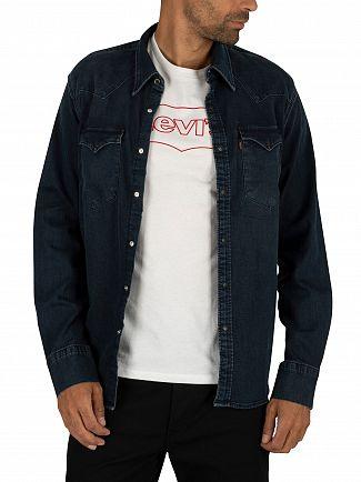 Levi's Bruised Indigo Dark Barstow Western Shirt