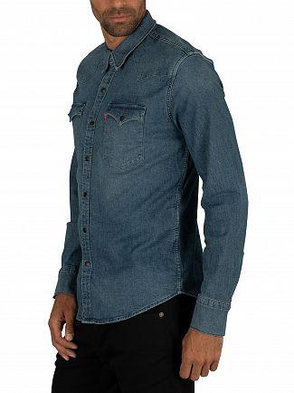 Levi's Bruised Indigo Mid Barstow Western Shirt
