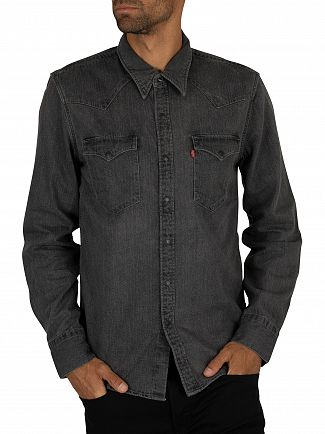 Levi's Black Worn In Barstow Western Shirt