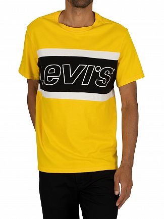 Levi's Yellow/Black Colour Block T-Shirt