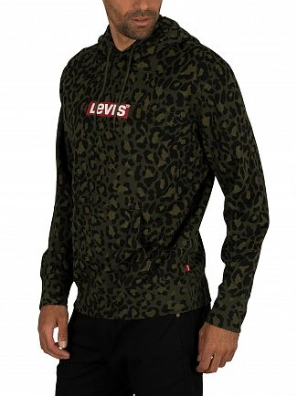 Levi's Boxtab Green Graphic Pullover Hoodie