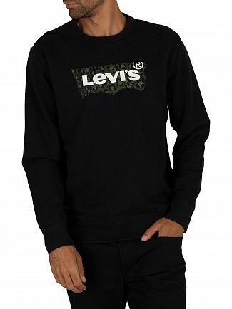 Levi's Animal Mineral Black Graphic Sweatshirt