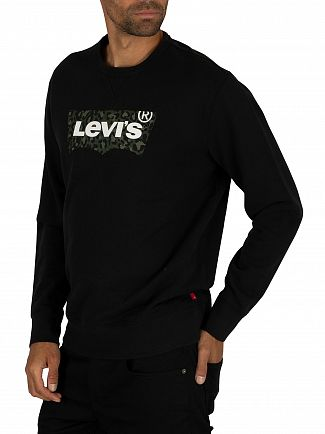 Levi's Animal Mineral Black Graphic Sweatshirt