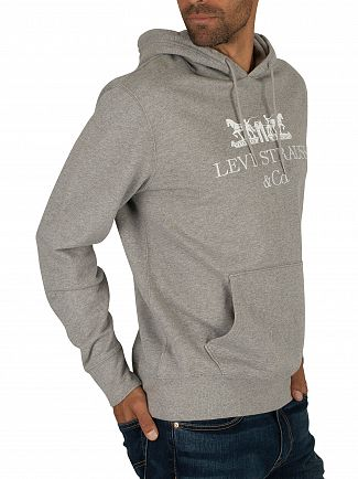 Levi's Grey Graphic Text Pullover Hoodie
