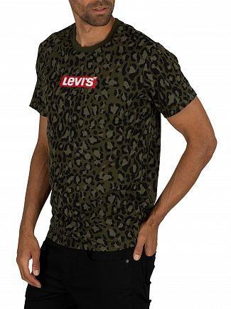 Levi's Boxtab Camo Print Graphic T-Shirt