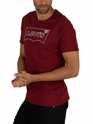 Levi's Burgundy Outline Housemark Graphic T-Shirt