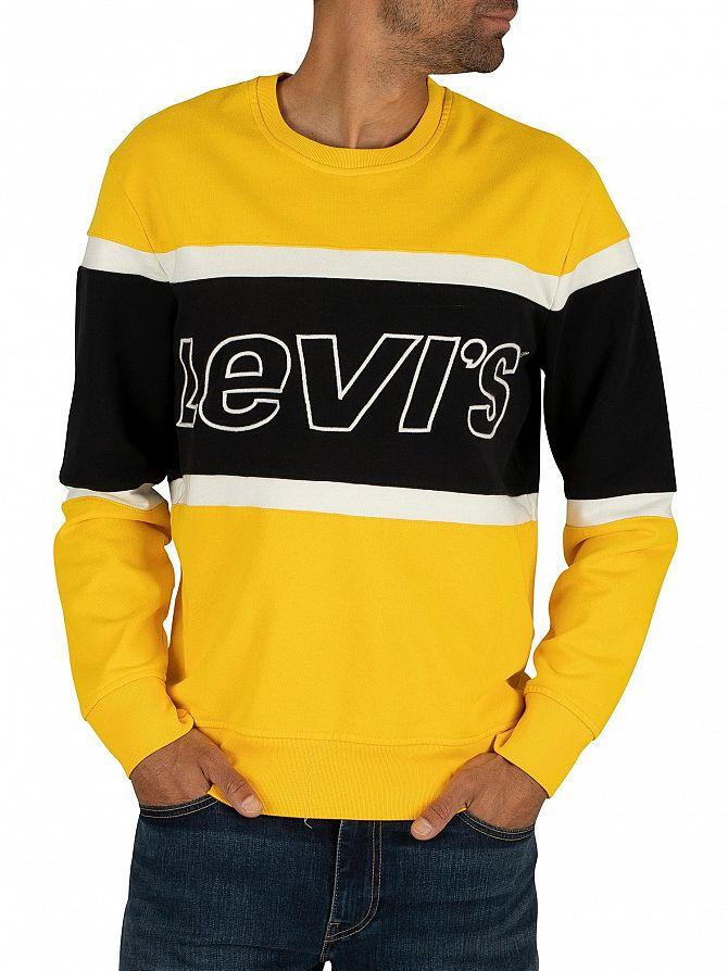 Levi's Jersey Yellow Pieced Sweatshirt