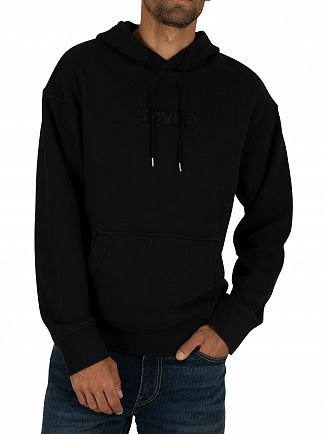 Levi's Black Relaxed Graphic Pullover Hoodie