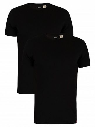 Levi's Black Slim 2 Pack Crew T-Shirts