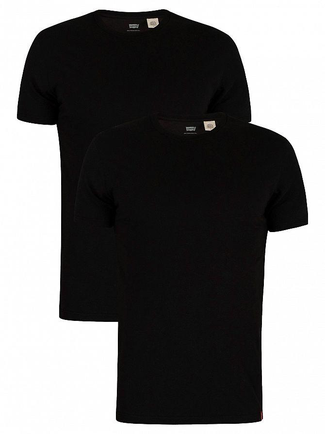 Levi's Black Slim 2 Pack Crew T-Shirts
