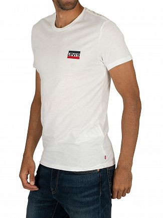 Levi's White/Black Slim 2 Pack Graphic T-Shirt