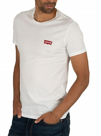 Levi's White/Grey Slim 2 Pack Graphic T-Shirt